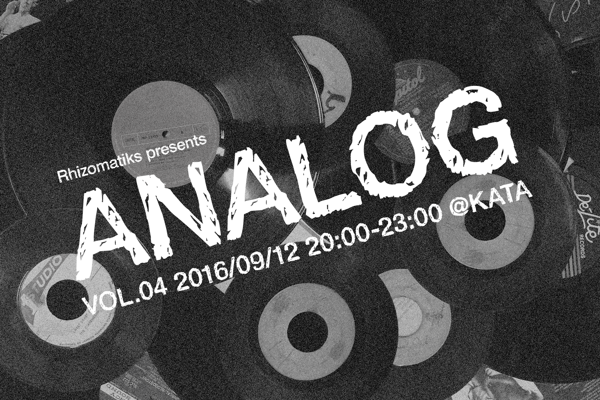 Rhizomatiks Presents 「ANALOG」 vol.04