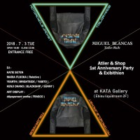 MIGUEL BLANCAS<br />Tailor Made<br />Atelier &#038; Shop<br />1st Anniversary Party &#038; Exhibition